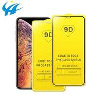 Protecteur d'écran de couverture en verre trempé HD 9D pour iPhone 12 11 Pro Max XS XR x 8 Samsung S20 Fe S21 Plus A12 A02S A32 A42 A52 A72 5G A