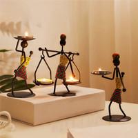 Metallo artigianato in ferro Candela Portacandele Differenti Forma uomo Candeliere Fashion Home Bar Festa di nozze Party Ins Candle Vassoio