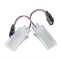 1 Çift LED Araba Kapı Nezaket Lazer Projektör Işık Footwell Bagaj Lambası Audi / VW / Skoda Lambo Araba Styling Işıkları için