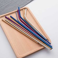 Metal Stainless Steel Gold Curly Drinking Ultra Long Straw with Reusable Bowa