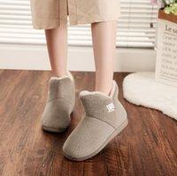 2021 الرجال والنساء الدافئة الشتاء لينة سميكة سوليد أحذية عالية أعلى زائد المخملية رغوة الذاكرة المنزلية القطن حذاء حذاء الحبال النعال