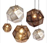 Multi-ball stainless steel LED Pendant lights Metal geometric lamp lighting restaurant bedroom staircase