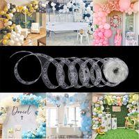 5m Corrente de balão de látex de balões de festa de aniversário de casamento de casamento de plástico decoração decoração balão de balão arco balões acessórios