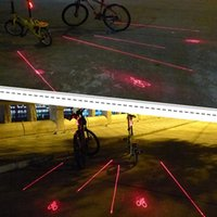 Bike Lights 2 Laser+5 LED Rear Bicycle Tail Light Beam Safety Warning Red Lamp Cycling Luz Bicicleta Luces Accessories
