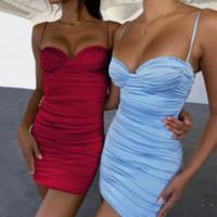 Fashin Donne BodyCon Dress Slip Slip Mini Gonne Nightclub Party Bosom Dresses Abbigliamento moda Red Blue Will and Sandy