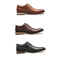 Sıcak Satış-Erkekler Elbise Ayakkabı Patent Hakiki Deri Siyah Erkekler Loafer'lar Markalar Düğün Örgün Parti Ayakkabı Erkek Için Sivri Burun Elbise Ayakkabı