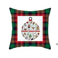 Noel Yastık Kılıfı Ekose Baskılı Atmak Yastık Kılıfı Noel Yastıkları Kapakları Çiftlik Evi Yastık Kapak Ev Dekorasyonu HWD10573