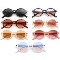 Fashion Sunglasses Round Frame Sun Glasses Unisex Rice Nails Eyeglasses Anti-UV Spectacles Retro Ornamental Adumbral A++
