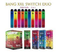 Bang XXL Switch Duo одноразовые сигареты 2in1 2500 Puffs 7 мл 1100 мАч 6% масло PODS 8 цвета VS RANDM PRO Dazzle Air Bar Max Pole Plus Flum Flum
