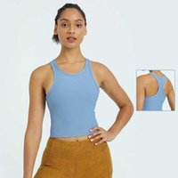 Women Tops Tees Tanks Camis Yoga Vest Fitness Sports Striped Self-contained Chest Pad Bra Underwear High Stretch Female Wear girls joggers