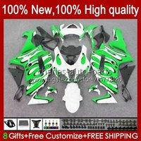 Feedings para Kawasaki Ninja ZX600C ZX600C ZX-600 ZX 6R 600CC 6 R Zx636 07-08 Bodywork 10no.43 ZX-636 600 CC ZX6R 07 08 ZX600 ZX 636 ZX-6R 2007 2008 Bodys Kit Green Flames
