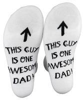 Herren Socken Kundenspezifischer Brief Jacquard Herstellung Großhandel Männer Papa Personalisierte Design Lustiger Sport Kann Amazon FBA PABEL Socke setzen