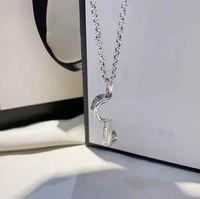 Новый дизайн модный ключ ожерелье 925 посеребренное ожерелье пару ожерелье взаимодействие ожерелья высококачественные ювелирные изделия