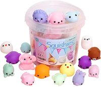DHL Fidget Toys Squishy 24pcs Party Favors for Kids Mini Kawaii squishies Mochi Stress Reliever Anxiety Toy with Storage Box
