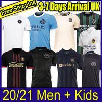 MLS 2021 2022 Los Angeles La Galaxy Inter Miami CF Futebol Jerseys 21 22 Higuain Atlanta United LaFC Beckham Camisas Fãs Versão