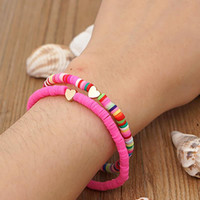 Link, Chain ZHINI Multicolor Bohemian Shell Heart Pendant Bracelets For Women 7 Coloe Ethnic Bangle Bracelet Statement Jewelry 2021 Pulseras