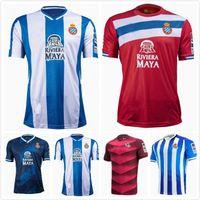 21 22 RCD Espanyol Futbol Formaları Çocuklar Eve Uzakta Üçüncü # 7 Wu Lei Real Sociedad 2021 2022 Odegaard Oyarzabal Pedrosa David López Juanmi Jersey Futbol Gömlekleri