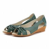 Sandali da donna in vera pelle Sandali 2020 Summer Shoes Flat Shoes Donna Open Toe Tagliare sandalo sandalo su comodo femmina casual calzature c3ot #