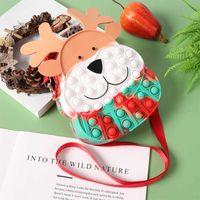 Fidget Çanta Duyusal Fidgets Oyuncak Sevimli Moose Tavşan Silikon Kabarcık Crossbody Çanta Kızlar Için Noel Partisi Otizm Stres Rahatlatıcı Şekeri -