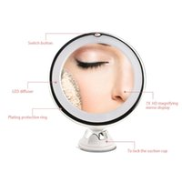 Compact Mirrors RUIMIO Adjustable 7x Magnification Lighted LED Makeup Mirror Bathroom Vanity Travel With Strong Suction Cup