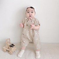 Yoga Outfit 2021 Корея лето с коротким рукавом цельные хлопковые и льняные акушенные брюки без рукавов детские брюки