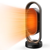 Calentador de espacio de Heat HC05 1500W Geek, Dual Oscillating, 2S Calentamiento rápido, 8H Temporizador, Control remoto, Ventilador de Calentador Portátil para Inicio de oficina interior