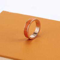Designer Ringe Klassische Luxus Designer Schmuck Titanium Stahl 18k Rose Gold Mode Nagel Ring Band Ringe Für Frauen Und Männer Marke Schmuck