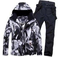 Men Snowboard Clothing Trouser Ski Suit Skiing Jacket Pant Super Warm Outdoor Sport Wear Male Windproof Waterproof Winter1
