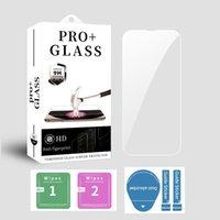 iPhone 13のMini Pro最大11 12 XR XS 6 8 7 Plus 9hの電話焼き付きガラス小売パッケージ付きの高透明スクリーンプロテクター