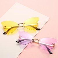 2021 Nuevos Gafas de sol de Ojos Gato de moda frescos de moda Mujeres degradados italianos Gafas de sol de mariposa para mujeres Vidrios de playa de verano UV400