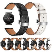 Watch Bands Butterfly Buckle Leather Strap For HUAWEI GT 2 Pro Gt2pro Wrist Band Bracelet HONOR Magic ES 20mm 22mm Belt Watchbands