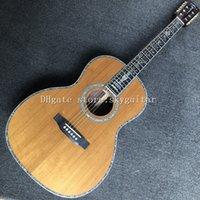 Factory NIEUWE 39 000 Hoge kwaliteit akoestische gitaar, massief rood dennenbovenkant, palissander zijden en achterkant, ebbenhouten toets, echte abalone binding