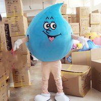 Performance Raindrop Water Drop Mascot Costumes Halloween Fancy Party Dress Cartoon Character Carnival Xmas Easter Advertising Birthday Party Costume Outfit