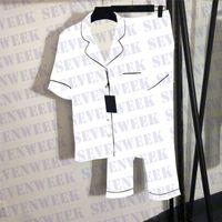 자카드 편지 Womens Sleepwear 잠옷 셔츠 세트 럭셔리 실크 숙녀 나이트 워터 겨울 긴 소매 여성 잠옷