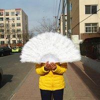 حزب صالح المصنع المباشر المباشر السيدات الأبيض مطوية تركيا ريشة اليد مروحة الجملة المعجبين اليدوية للرقص الزفاف الديكور 41