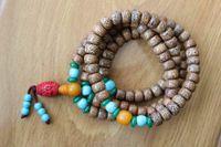 Pendant Necklaces ML195 Vintage Tibetan Buddhist 108 Mala Rosary Natural Original Lotus Bodhi Seeds Prayer Necklace Beaded Bracelet