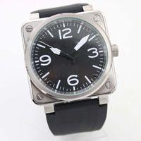 Новый стиль автоматические мужские механические часы издание Bell BR01-92 Aviation Sport Watches Men Limited сталь корпус резиновые ремень наручные часы