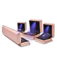 HBP Fashion Shipai LED Light High End Ring Halskette Armband Box, Schmuckschatulle
