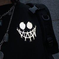 2021 New Hip Hip Harajuku، الشارع الشهير عارضة، Preta، Solta، Vero، Legal، Punk، Moda Japonesa، Masculina، الأنثوية، Defletiva Camiseta Com LX