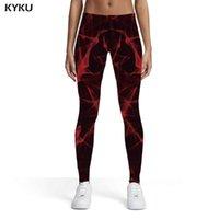 Women's Leggings KYKU Women Abstract 3d Print Casual Printed Pants Womens Fitness Fashion Skinny Ladies