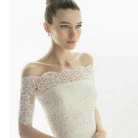 Wraps & Jackets High Quality Elegant Lace Short Sleeves Wedding Bolero Bridal Jacket Ivory Accessories 2021