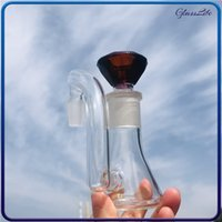 Fumar Hookah Ash Catcher Glass Water Pipes Bubbler 14mm 18mm Hombre Mujer Ashcatcher Adaptador DAB Herramienta