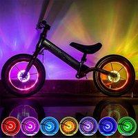 أضواء الدراجات أدى ضوء الألوان دراجة عجلة الدراجات حافة على قبالة فلاش تكلم سلسلة الملحقات