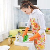 Gloves Mrs. Shu Dishwashing Rubber Washing and Dishes Household Cleaning Durable Pvc Waterproof Thin Latex