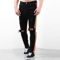 Calças masculinas isHowtienda 2021 Chegada homens jeans algodão heterossexual calças angustiado calça jeans longa pantaloni da uomo drop30