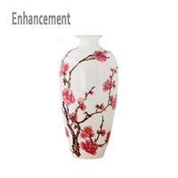 Jingdezhen Antique中国磁器古典的な中国花瓶カオリン花花瓶家の装飾手作り梅の花瓶sh190925