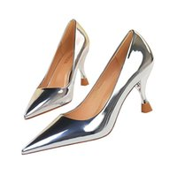 2022 Top Quality Women Shoes Red Bottoms patent leather So Kate Styles 7.5cm High Heels Gold, silver, champagne, black Color Genuine Leather Point Toe Pumps