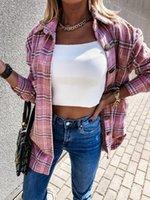 Women Long Sleeve Plaid Jacket Autumn Winter Oversized Coat 2020 Fashion Loose Outwear Vintage Elegant Top Streetwearji