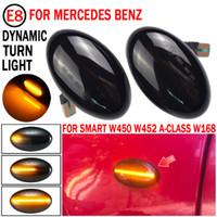 2x Dynamic Led Turn Signal Signal Lumières Marqueur latéral Accessoires de voiture pour Mercedes Benz Smart W450 W452 A-classe W168 VITO W639 W447