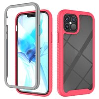 iPhone 12 Pro Max Clear Back Cover 더블 레이어 Bumper Funda의 Shockproof 전화 케이스 삼성 S21 노트 20
